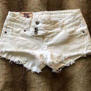 1st Kiss White Cutoff Jean shorts